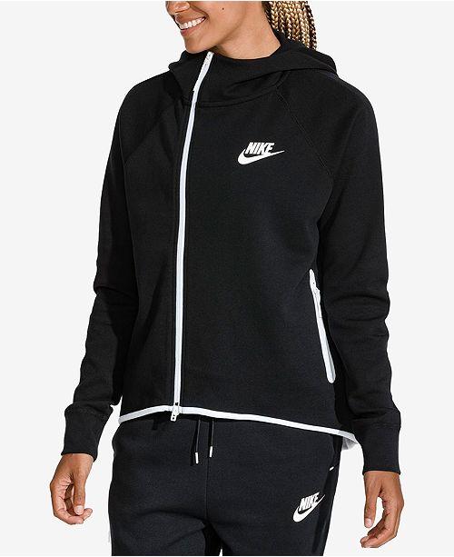 14711f24232e Nike Sportswear Tech Fleece Cape Jacket   Reviews - Tops - Women ...