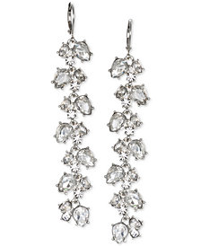 Jewel Badgley Mischka Crystal Leaf Linear Drop Earrings