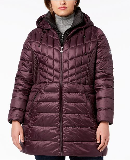 0863687bab2 Bernardo Plus Size Hooded Packable Puffer Coat   Reviews - Coats ...