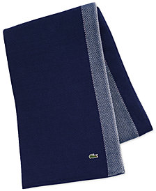 Lacoste Home Caviar Color Cotton Block Throw