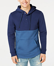 American Rag Men's Colorblocked Fleece Hoodie, Created for Macy's