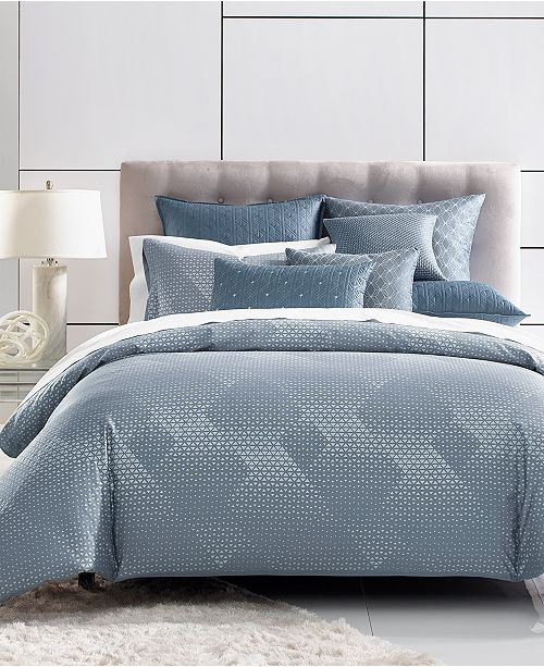 Hotel Collection Cascade 400-Thread Count Blue Full/Queen Comforter, Created for Macy's