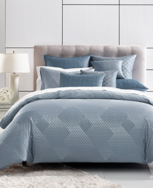 Closeout! Hotel Collection Cascade 400-Thread Count Blue Full/Queen Comforter, Created for Macy's Bedding