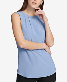 DKNY Pleated-Neck Shell, Created for Macy's