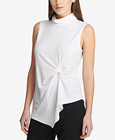 DKNY Ruched Asymmetrical Top, Created for Macy's