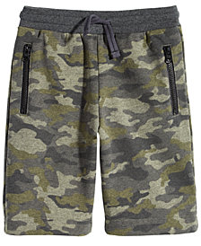 Epic Threads Little Boys Camo-Print Pull-On Shorts, Created for Macy's
