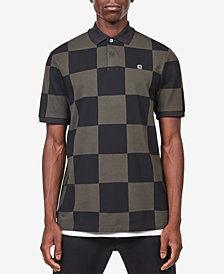 G-Star RAW Men's Holliday Checker Print Polo