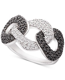 Wrapped in Love™ Diamond Large Statement Ring (1 ct. t.w.) in 14k White Gold, Created for Macy's