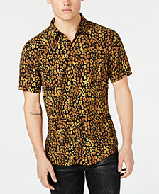 GUESS Men's Spotted Leopard Shirt