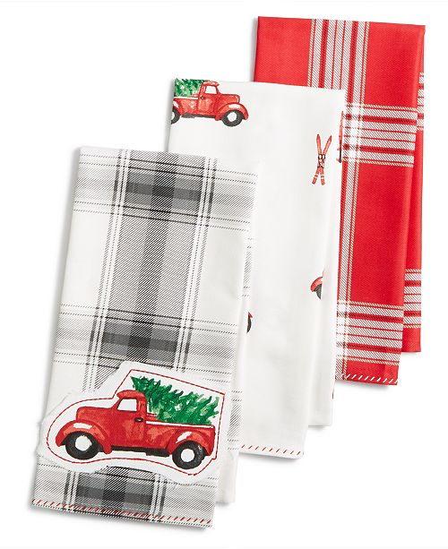 Martha Stewart Collection 3 Pc Kitchen Towel Set Created