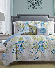 VCNY Home Ibiza Reversible 3-Pc. Full/Queen Quilt Set
