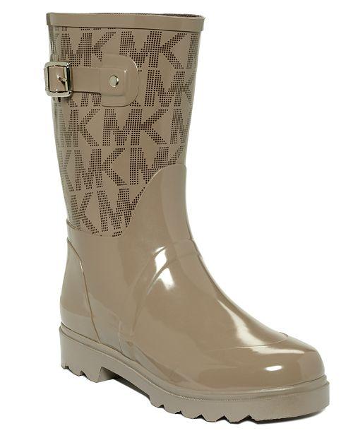 72b93782cabd Michael Kors Logo Mid Rainboots   Reviews - Boots - Shoes - Macy s