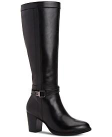 Giani Bernini Rozario Memory-Foam Wide-Calf Dress Boots, Created for Macy's