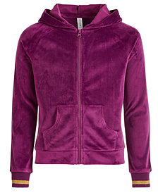 Ideology Big Girls Plus Velour Zip-Up Hoodie, Created for Macy's