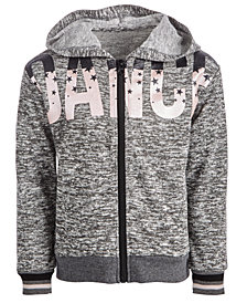 Ideology Little Girls Dance-Print Zip-Up Hoodie, Created for Macy's