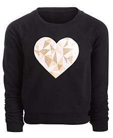 Ideology Little Girls Heart-Print Sweatshirt, Created for Macy's
