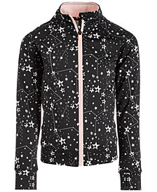 Ideology Little Girls Space-Print Zip-Up Jacket, Created for Macy's