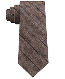 Calvin Klein Men's Seasonal Stripe Slim Silk Tie