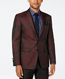 Tallia Men's Big & Tall Slim-Fit Burgundy Wave Dinner Jacket