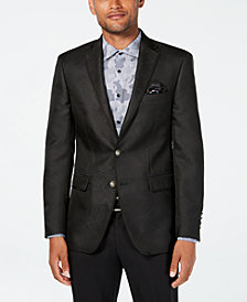 Tallia Orange Men's Slim-Fit Charcoal Geometric Sport Coat