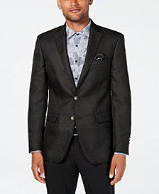 Tallia Men's Slim-Fit Charcoal Geometric Sport Coat