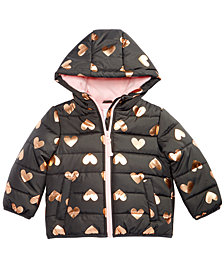 Carter's Baby Girls Heart-Print Hooded Jacket