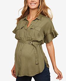Motherhood Maternity Button-Front Shirt