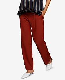 A Pea In The Pod Maternity Wide-Leg Drawstring Pants