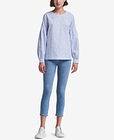 DKNY Cotton Embellished Top, Created for Macy's