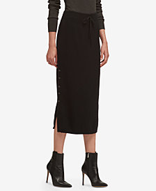 DKNY Button-Side Sweater Skirt, Created for Macy's