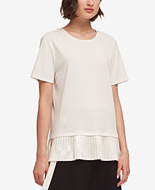 DKNY Pleated-Hem T-Shirt, Created for Macy's
