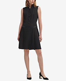 DKNY Tuxedo A-Line Dress, Created for Macy's