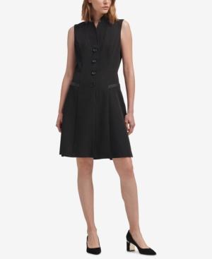 Dkny Tuxedo A-Line Dress, Created for Macy's