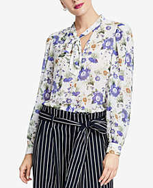 RACHEL Rachel Roy Gail Tie-Neck Top, Created for Macy's