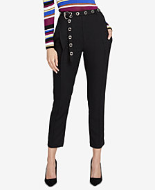 RACHEL Rachel Roy Zane Belted Ankle Pants, Created for Macy's