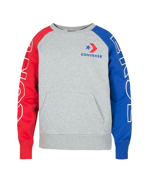 5d8d4f76f182 Converse. Big Boys Colorblocked Logo Sweatshirt. Be the first to Write a  Review. main image
