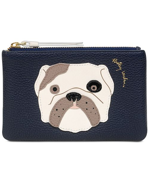 Radley London Bulldog Zip-Top Pebble Leather Coin Wallet