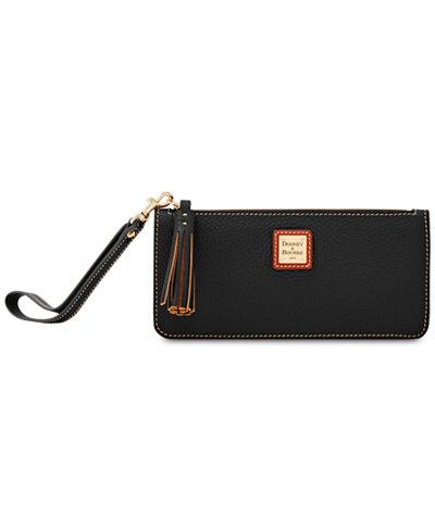 Dooney & Bourke Tatum Pebble Leather Wristlet