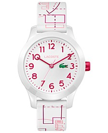 Kid's 12.12 White Silicone Strap Watch 32mm