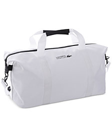 Receive a FREE Duffel Bag with any large spray purchase from the Lacoste fragrance collection