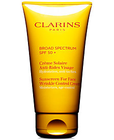 Clarins Sunscreen For Face Wrinkle Control Cream SPF 50+, 2.7 oz.