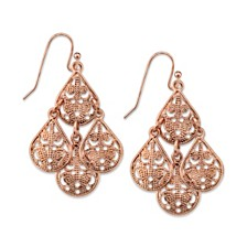 2028 Pear Shaped Filigree Drop Earrings