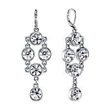 2028 Silver Tone Crystal Chandelier Drop Earrings
