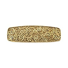 Gold-tone Floral Etched Hair Barrette