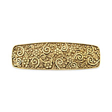 2028 Gold-tone Floral Etched Hair Barrette