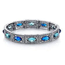 2028 Silver-Tone Blue  Bracelet