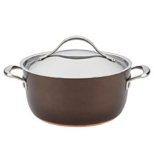 Anolon Nouvelle Copper Luxe Hard-Anodized Nonstick 5qt Dutch Oven
