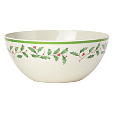Lenox Holiday Holiday Melamine Serving Bowl