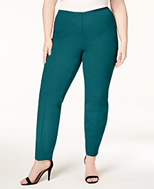 Alfani Plus Size Bi-Stretch Hollywood Skinny Pants, Created for Macy's