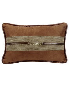 Suede 12x19 Pillow with Buckle Detail